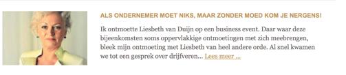 Liesbeth van Duijn, oprichter van Nederland Slank in B'elle